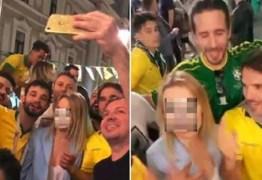 """Brasileiro que gritou """"b… rosa"""" na Rússia vai à Justiça contra Globo"""