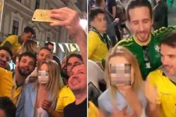 """brasileiros cometem assedio com mulher estrangeira na russia 1529622591641 v2 900x506 - Brasileiro que gritou """"b... rosa"""" na Rússia vai à Justiça contra Globo"""