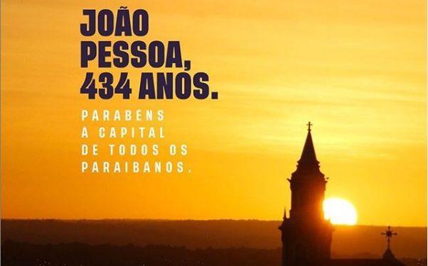 joao pessoa 434 602x375 - João Azevêdo e RC parabenizam a capital paraibana: 'João Pessoa é meu lugar' ressalta ex-governador