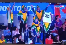 FAKE NEWS: notícia sobre atletas brasileiros que exibiram faixa com 'Fora Bozo' no Pan é falsa