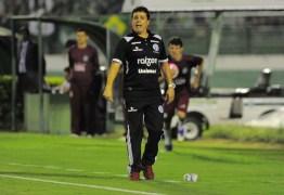 Treinador do Botafogo-PB espera jogo aberto contra o Treze e admite barrar Marcos Aurélio
