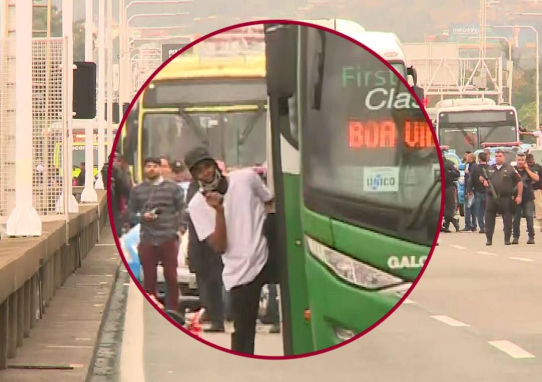 sequestrador 1 - SEQUESTRADOR MORTO: Homem que fez reféns em ônibus usava arma de brinquedo e foi atingido por atirador de elite - VEJA VÍDEO DO MOMENTO DOS TIROS
