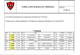 Locais e horários dos jogos da primeira rodada da 2ª divisão são divulgados pela FPF