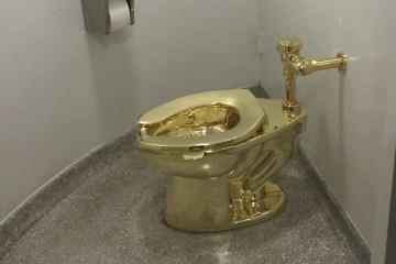 Privada de ouro é roubada de exposição em palácio na Inglaterra