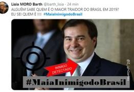 Tag #MaiaInimigodoBrasil volta a ser um dos assuntos mais comentados no Twitter