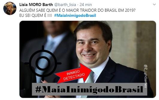 010 3 - Tag #MaiaInimigodoBrasil volta a ser um dos assuntos mais comentados no Twitter