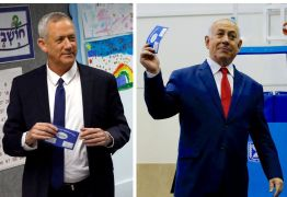 Israel: projeções mostram empate técnico entre Netanyahu e Gantz