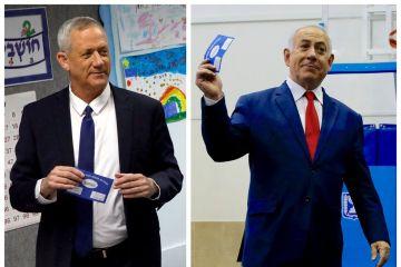 2019 04 09t113748z 1508162436 rc1afc7b3e30 rtrmadp 3 israel election - Israel: projeções mostram empate técnico entre Netanyahu e Gantz