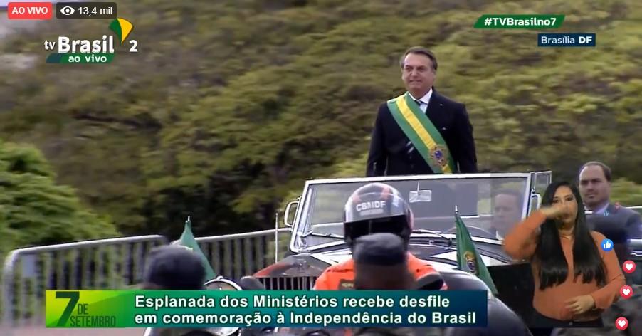 BOLSONARO INDEPENDENCIA - Bolsonaro quebra protocolos em primeiro desfile de 7 de setembro como presidente; VEJA VÍDEO