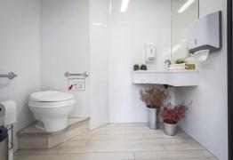Empresas alugam banheiro químico de luxo com espelho e até ar-condicionado