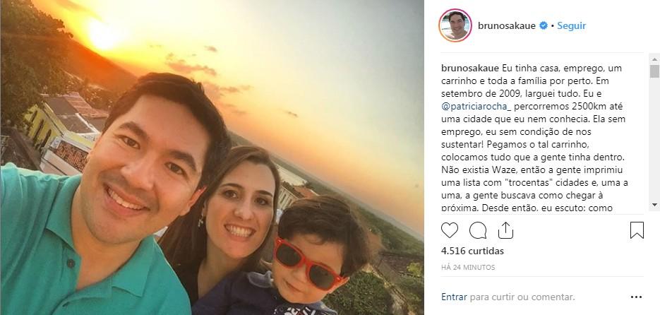 bruno - 'DEPRESSÃO' Comemorando dez anos na Paraíba Bruno Sakaue agradece ex esposa e lembra momentos difíceis