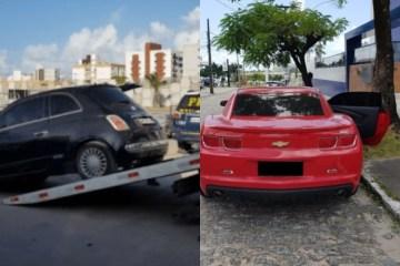 carros apreendidos - OSTENTAÇÃO E CLONAGEM: PRF e PM realizam ação conjunta e recuperam Camaro 'placa fria' e mais dois carros - VEJA VÍDEO