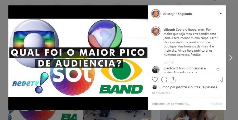 clilson - IBOPE DA MANHÃ: Afiliada da TV Globo vence no primeiro horário da televisão paraibana