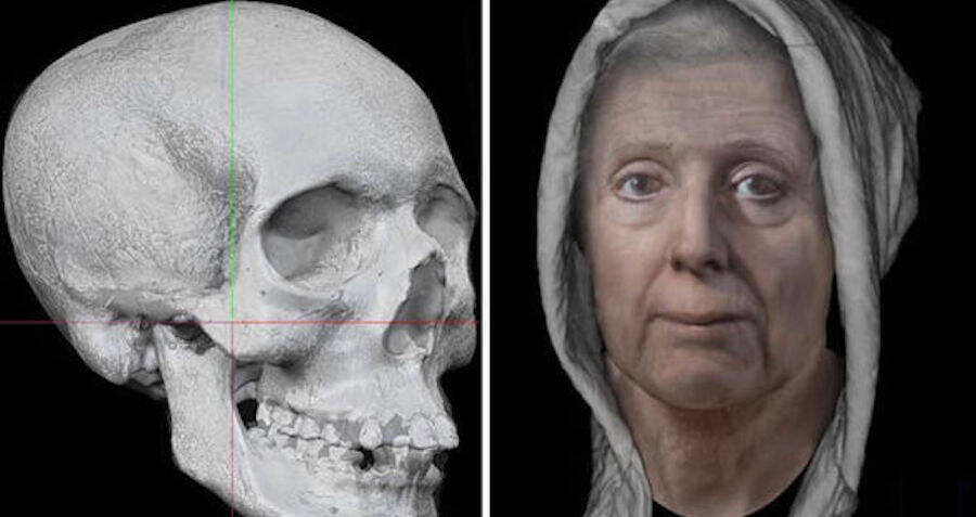 digital model of lilias adie and her skull - Ossada de 'BRUXA' escocesa do Século 18 roubada de universidade