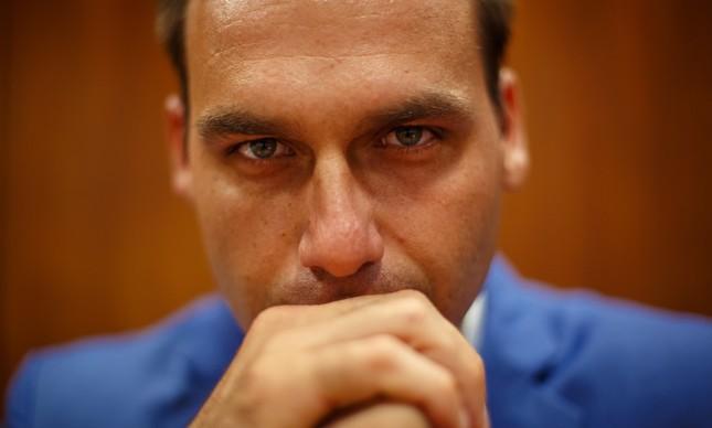 eduardo bolsonaro - Novo líder do PSL, Eduardo Bolsonaro diz que futuro da família na sigla é incerto