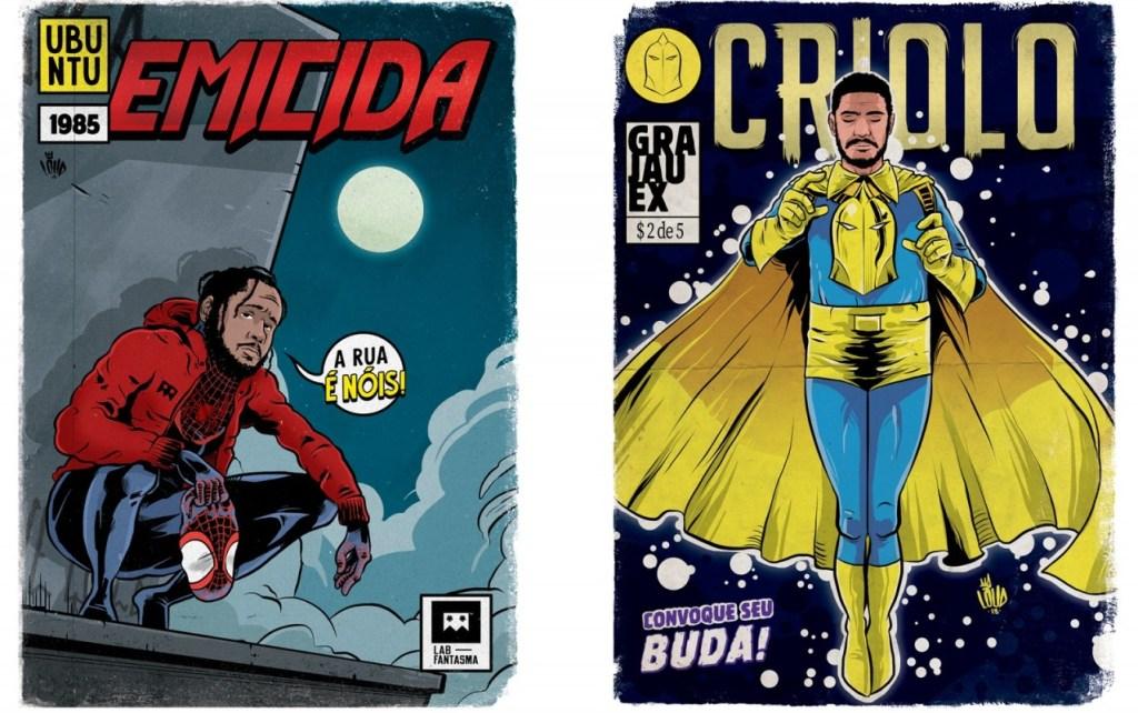 emicida miles morales 1 1024x642 - 'Perifa Geek': rappers brasileiros viram super-heróis em quadrinhos