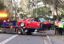 Lamborghini de R$ 2 mi é destruída em batida logo após ser comprada