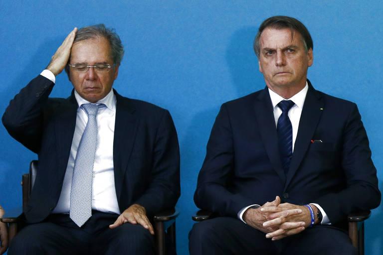 ministro e presidente - SUBSTITUIDO? Guedes perde exclusividade como conselheiro econômico de Bolsonaro