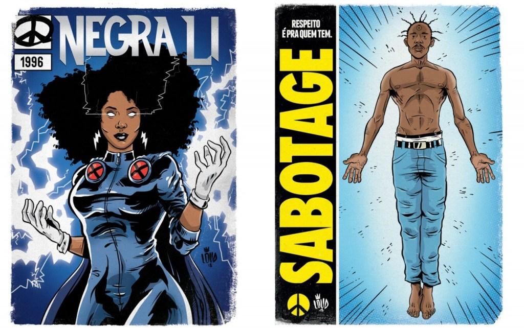 negra li tempestade 1 1024x642 - 'Perifa Geek': rappers brasileiros viram super-heróis em quadrinhos