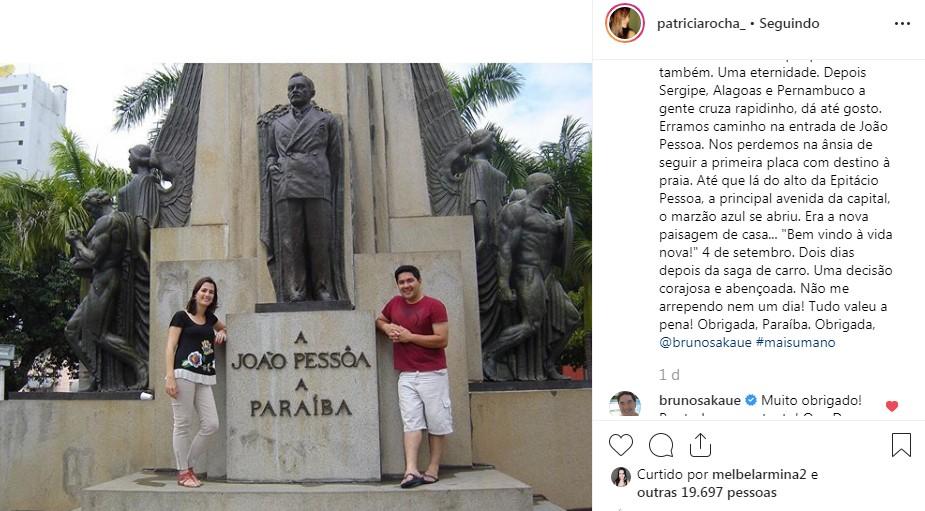 patricia - 'DEPRESSÃO' Comemorando dez anos na Paraíba Bruno Sakaue agradece ex esposa e lembra momentos difíceis