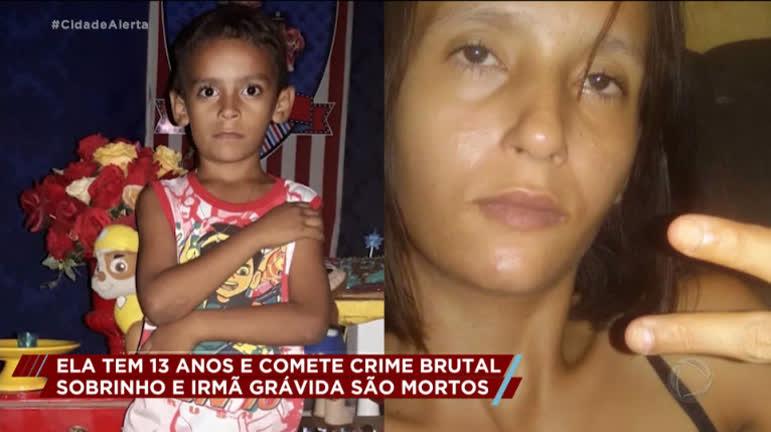 009a838af555448ea12ec3b65f3fe723  Menina de 13 anos confessa assassinato do sobrinho e da irm  gr vida thumb thumb - Testemunha conta detalhes do crime onde adolescente mata irmã grávida e sobrinho: VEJA VÍDEO