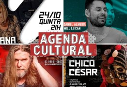 AGENDA CULTURAL: Acompanhe os principais eventos do fim de semana em João Pessoa