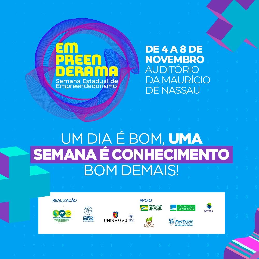 João Pessoa sedia Semana Estadual do Empreendedorismo de 4 a 8 de novembro