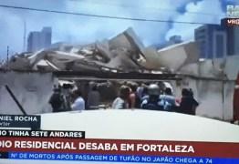Edifício residencial desaba em bairro nobre de Fortaleza – VEJA VÍDEO