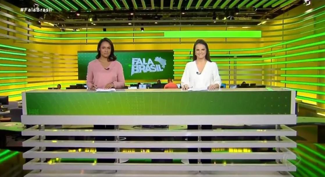 Capturar 27 - Excesso de verde e amarelo: novo cenário de jornal da Record é comparado ao terno do dono da Havan