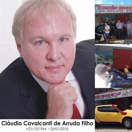 Cláudio Arruda - MORTO POR DÍVIDA DE R$11 MIL: Acontece nessa segunda julgamento de empresário que mandou matar corretor de imóveis em João Pessoa