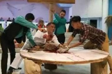 'Para lembrar morte de Crsito': Pastor sacrifica cabra durante culto e causa polêmica