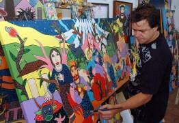 Obras de artista plástico são leiloadas e dinheiro arrecadado é doado para Hospital Napoleão Laureano