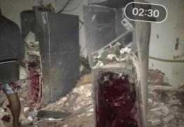 Quadrilha explode banco no Sertão da Paraíba