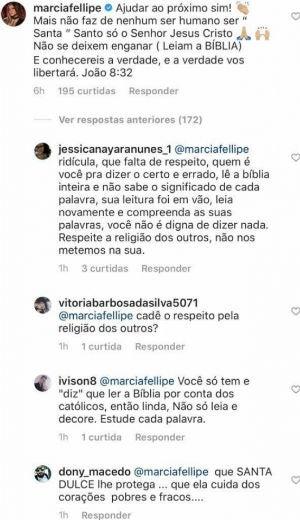 marciafellipe 1 - Festa da Luz: população de Guarabira pede que prefeitura cancele show de Márcia Fellipe após cantora criticar canonização de Irmã Dulce