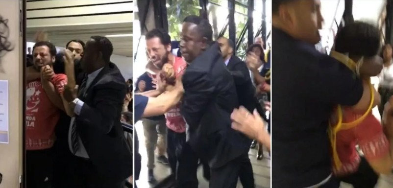 mata leão professor - Professor é espancado por policiais durante votação da 'escola sem partido' na Câmara dos Vereadores - VEJA VÍDEO