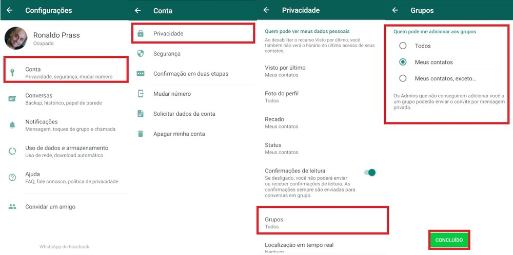 WhatsApp vai liberar opção para impedir que usuário seja colocado em grupo sem ter autorizado