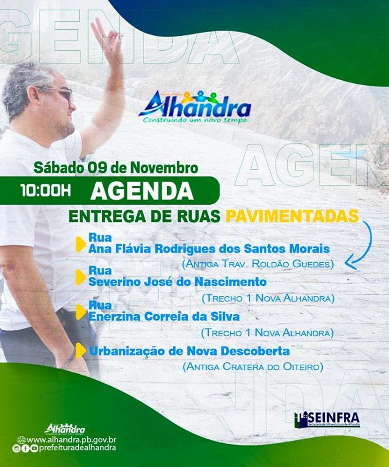 73458640 2438282506453290 4695113700862853120 n - OBRAS: Prefeito Renato Mendes inaugura pavimentação de ruas de Alhandra
