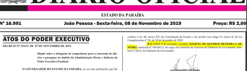 8e54c858 2bc7 49f1 804d e0cb7a6a1d4c - GOVERNADOR ACEITOU: Após entrega de cargos, esposa de Bosco Carneiro deixa cargo do Estado
