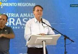 Em discurso, Bolsonaro exalta região Nordeste e destaca proximidade com povo 'cabra da peste'; VEJA VÍDEO