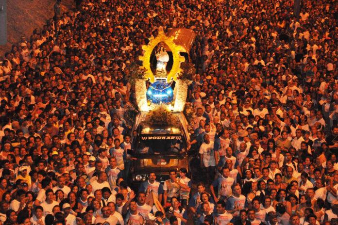 Romaria da Penha Foto Luiz Vaz Secom JP 696x464 696x464 - Com romaria cancelada, Festa de N. S. da Penha não terá carreata e missas presenciais serão por agendamento