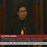 monica copa - Partido de Evo Morales reassume presidência do Senado e da Câmara