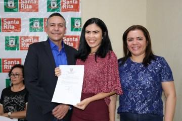 posse educação - Prefeito empossa novos servidores para Educação de Santa Rita