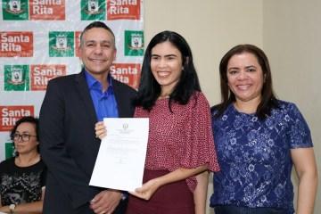 prefeito panta - Prefeito de Santa Rita empossa novos servidores da Educação