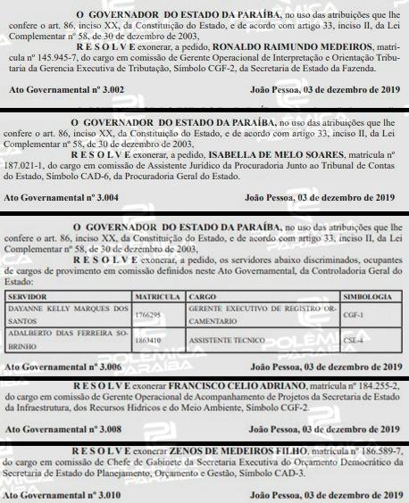 75531c19 38a5 4936 ab6f b1cba78ceb3b - Um dia após governador deixar o PSB, Diário Oficial do Estado registra mais de 40 exonerações