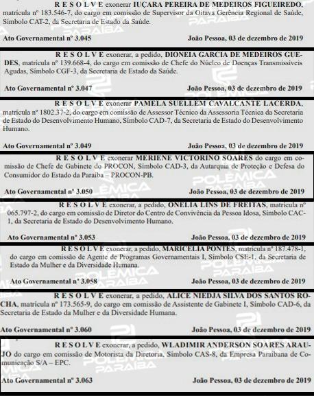 77f26889 0e2c 46ac b6a2 a5f3766a74d4 - Um dia após governador deixar o PSB, Diário Oficial do Estado registra mais de 40 exonerações