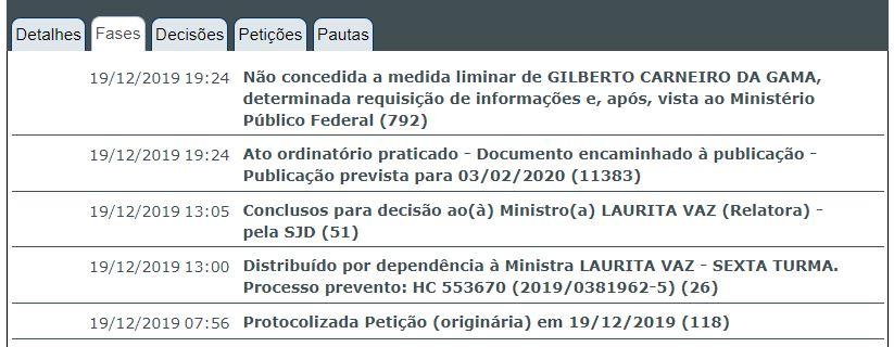 DECISAO GILBERTO - RECURSO NEGADO: STJ mantém prisão preventiva de ex-procurador Gilberto Carneiro