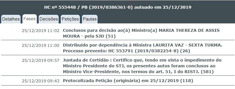 HABEAS CORPUS 2 - CALVÁRIO: Waldson de Souza apresenta novo pedido de Habeas Corpus ao STJ
