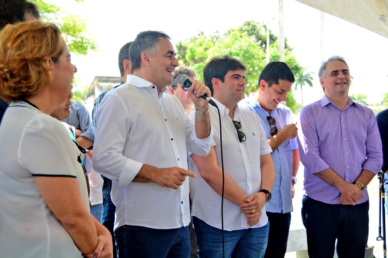luciano cartaxo prefeito inauguração - Cartaxo afirma que seu projeto tem nomes qualificados e que não escolherá adversários