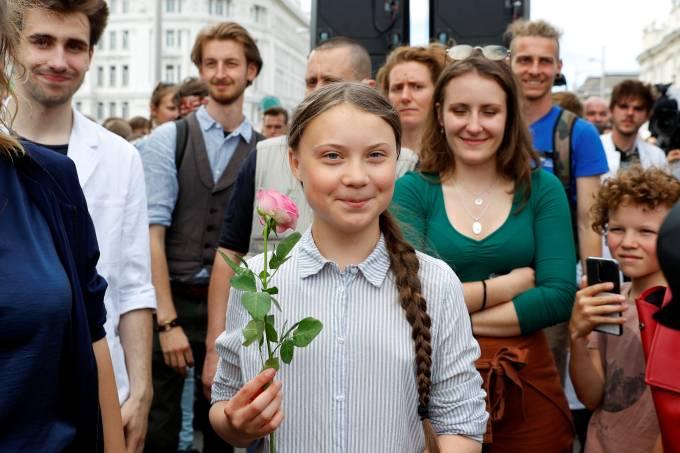 2019 05 31t133149z 494515833 rc1893403d00 rtrmadp 3 climate change youth austria - Greta Thunberg é indicada ao Nobel da Paz