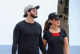 Fátima Bernardes e Túlio Gadêlha se exercitam após férias